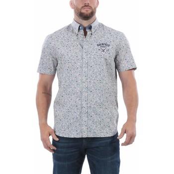 Vêtements Homme Chemises manches courtes Ruckfield Chemise d'été Flower Beige