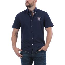 Vêtements Homme Chemises manches courtes Ruckfield Chemise sport bleu Bleu