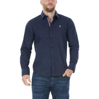 Vêtements Homme Chemises manches longues Ruckfield Chemise marine France Bleu