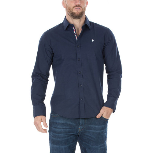 Marine Homme Longues Manches Chemises Chemise Ruckfield Bleu France nmv8Nw0