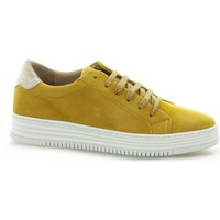 Chaussures Femme Baskets basses So Send Baskets cuir velours Jaune