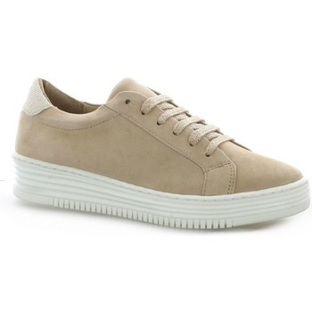 Chaussures Femme Baskets basses So Send Baskets cuir velours  nude Nude