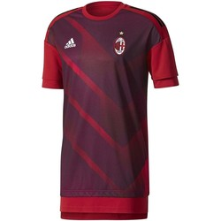 Vêtements Homme T-shirts manches courtes adidas Originals Maglia Home Pre-Match AC Milan 2017/2018 rouge