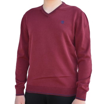 Vêtements Homme Sweats Timberland Long Point Jumper Maglioncino Collo V Rosso Rouge