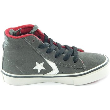 Chaussures Garçon Baskets montantes Converse Junior scarpe sneakers pro leather grigio grey alte Gris