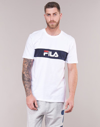 Vêtements Homme T-shirts manches courtes Fila MEN NOLAN TEE DROPPED SHOULDER Blanc / Marine
