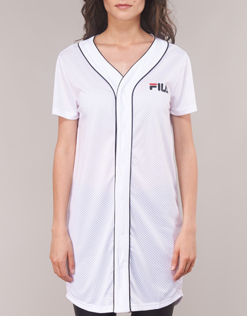 Femme Robes Fila Baseball Dr Vêtements Blanc Robin Women Courtes Button IE2HD9