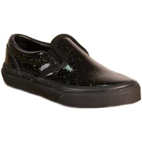Chaussures Fille Baskets basses Vans Classic Slip-On Patent Galaxy Scarpe Nere Glitterate Noir