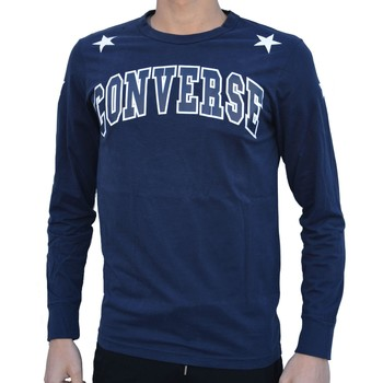 SWEAT-SHIRT CONVERSE FLEECE FELPA LOGO MAGLIA BLU