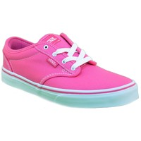 Chaussures Fille Baskets basses Vans ATWOOD FUCSIA TELA Violet