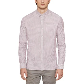 Vêtements Homme Chemises manches longues Timberland WELLFLEET STRIPES CAMICIA Rouge