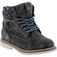 Chaussures Fille Boots Wrangler Creek Girl Grigio Scuro Gris