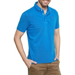 Vêtements Homme Polos manches courtes Timberland MILFORD WASHED BLU Bleu