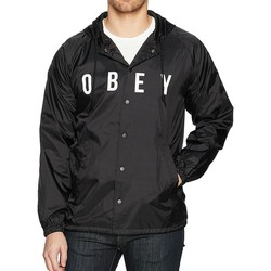 Vêtements Homme Coupes vent Obey ANYWAY GIUBBOTTO LEGGERO NERO Noir