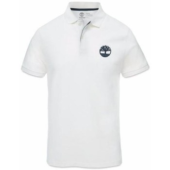 Vêtements Homme Polos manches courtes Timberland Slim Millers Logo Bianca Blanc