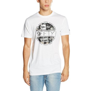 Vêtements Homme T-shirts manches courtes New-Era Offshore Tee Whi Bianca Blanc