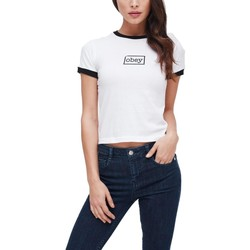 Vêtements Femme T-shirts manches courtes Obey TYPEWRITER BIANCA Blanc
