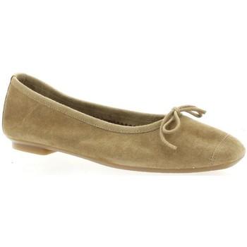 Chaussures Femme Ballerines / babies Reqin's Ballerines cuir velours naturel Naturel