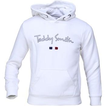 Vêtements Garçon Sweats Teddy Smith Sweat garçon à capuche Blanc