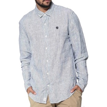 Vêtements Homme Chemises manches longues Timberland LS MILL LIN STRPE SH CAMICIA A RIGHE BIANCA Blanc