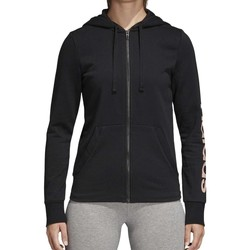 Vêtements Femme Sweats adidas Originals ESS LIN FZ HD GIACCHETTO NERO Noir