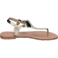 Chaussures Femme Sandales et Nu-pieds Francescomilano sandales cuir synthétique platine