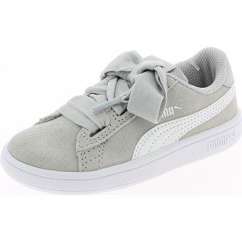 Chaussures Fille Baskets basses Puma SMASH V2 RIBBON GRIGIE Gris