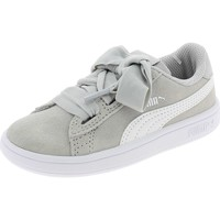 Chaussures Fille Baskets basses Puma SMASH V2 RIBBON AC PS GRIGIE Gris