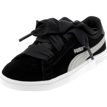 Chaussures Fille Baskets basses Puma SMASH V2 RIBBON AC INF NERE Noir