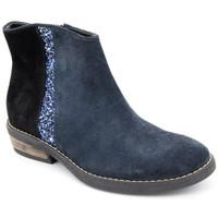 Chaussures Fille Boots Reqin's basilio peau Bleu