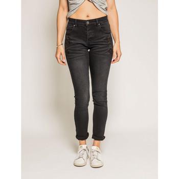 Vêtements Femme Jeans slim Dona X Lisa Jean slim ERIKA Noir