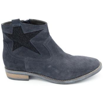 Chaussures Femme Boots Reqin's zarina peau/jannots bleu