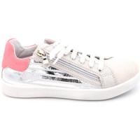 Chaussures Fille Baskets basses Reqin's stark mix stripes Argenté