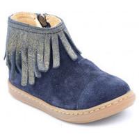 Chaussures Fille Boots Shoo Pom bouba fringe Bleu