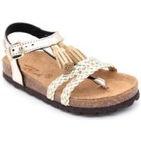 Chaussures Fille Sandales et Nu-pieds Reqin's marlo lam platine Doré