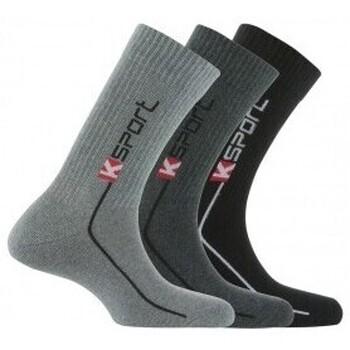 Accessoires textile Homme Chaussettes Kindy Pack de 3 paires de chaussettes K-sport Gris noir