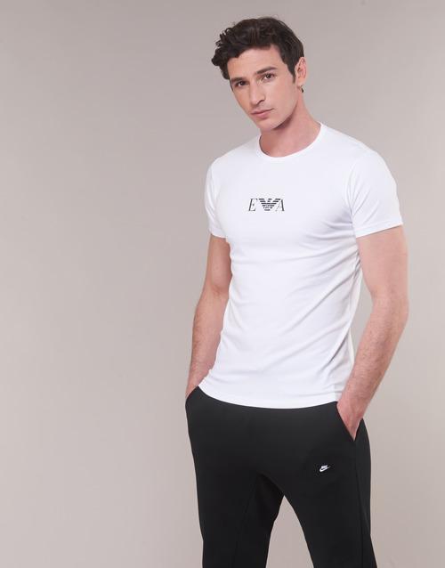 shirts 04712 Emporio 111267 Courtes Armani Homme Blanc Manches Cc715 T WD92IEH