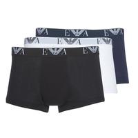 Sous-vêtements Homme Boxers Emporio Armani CC715-111357-56110 Blanc / Noir / Marine