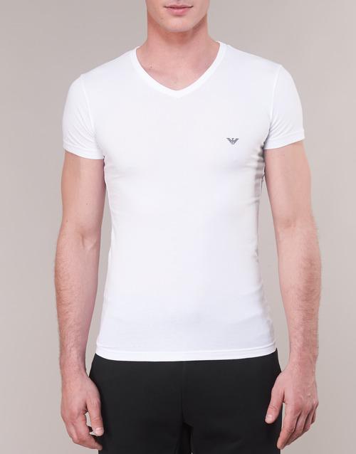Courtes Manches Armani Emporio Homme T 00010 Cc735 110810 Blanc shirts sCtQrdBhx