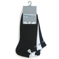 Accessoires Homme Chaussettes Emporio Armani CC134-300008-00997 Blanc / Noir / Marine