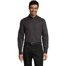 Vêtements Homme Chemises manches longues Sols BUSSINES MODERN MEN Gris