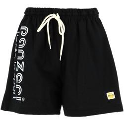 Vêtements Homme Shorts / Bermudas Panzeri Uni a nr/argt jersey shor Noir