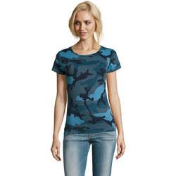 Vêtements Femme T-shirts manches courtes Sols CAMOUFLAGE DESIGN WOMEN Azul
