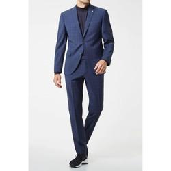 Vêtements Homme Costumes  Kebello Costume 2 boutons à carreaux H Bleu Bleu