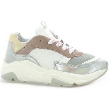 Chaussures Femme Baskets mode Reqin's Baskets toile Blanc/rose