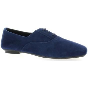 Chaussures Femme Richelieu Reqin's Derby cuir velours  ocean Ocean