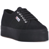 Chaussures Femme Baskets basses Superga COTU FULL BLACK UP AND DOWN Nero