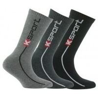 Accessoires textile Enfant Chaussettes Kindy Pack de 3 paires de chaussettes k-sport Gris noir