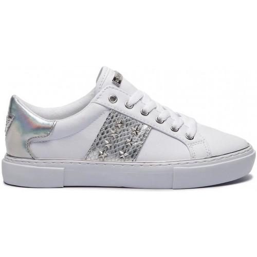 Baskets Guess ele12 Basses Fl6gm5 Femme Chaussures Blanc O0w8nPk
