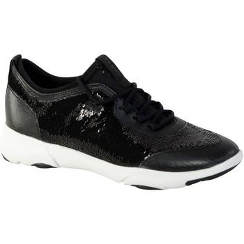 Chaussures Femme Baskets mode Geox Basket D Nebula X A - Pailettes Noir